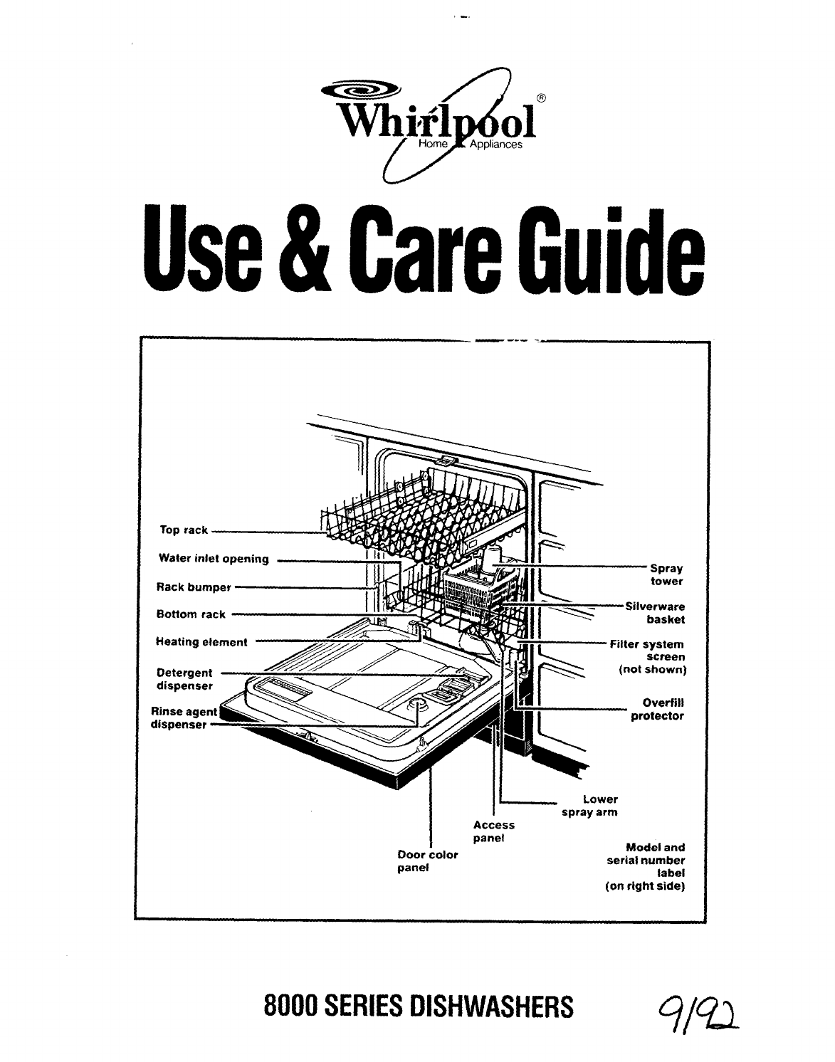 Whirlpool Dishwasher Series User Guide