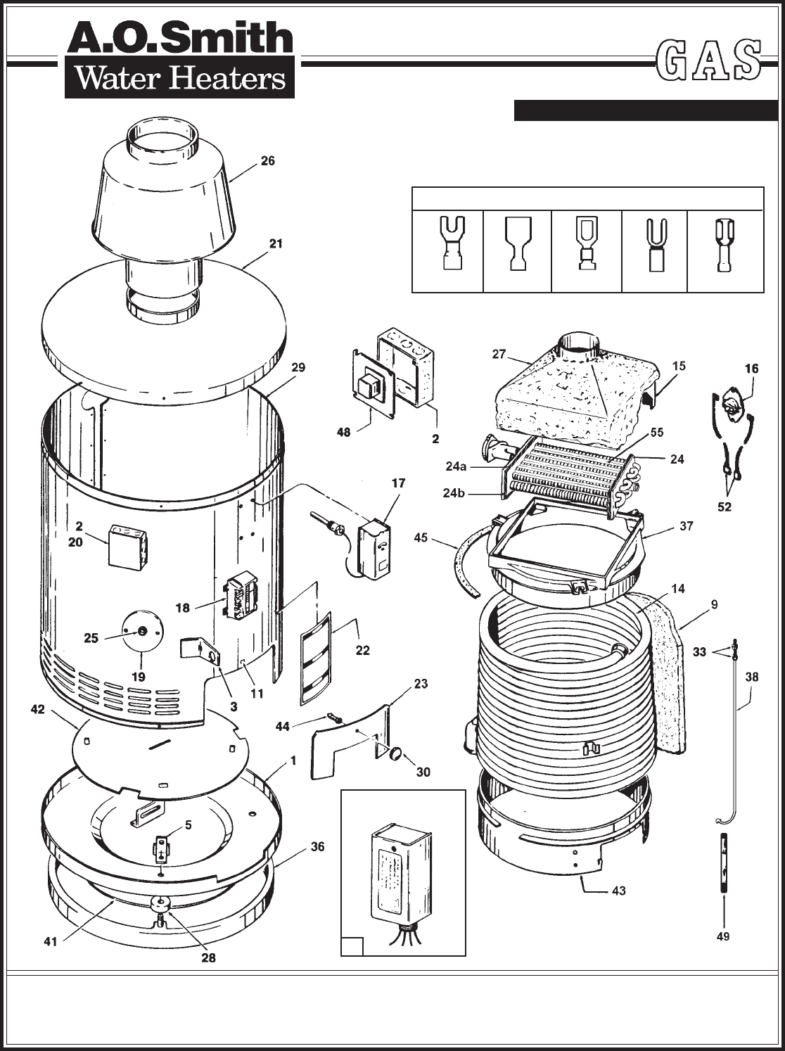 A O Smith Water Heater 105 Series User Guide