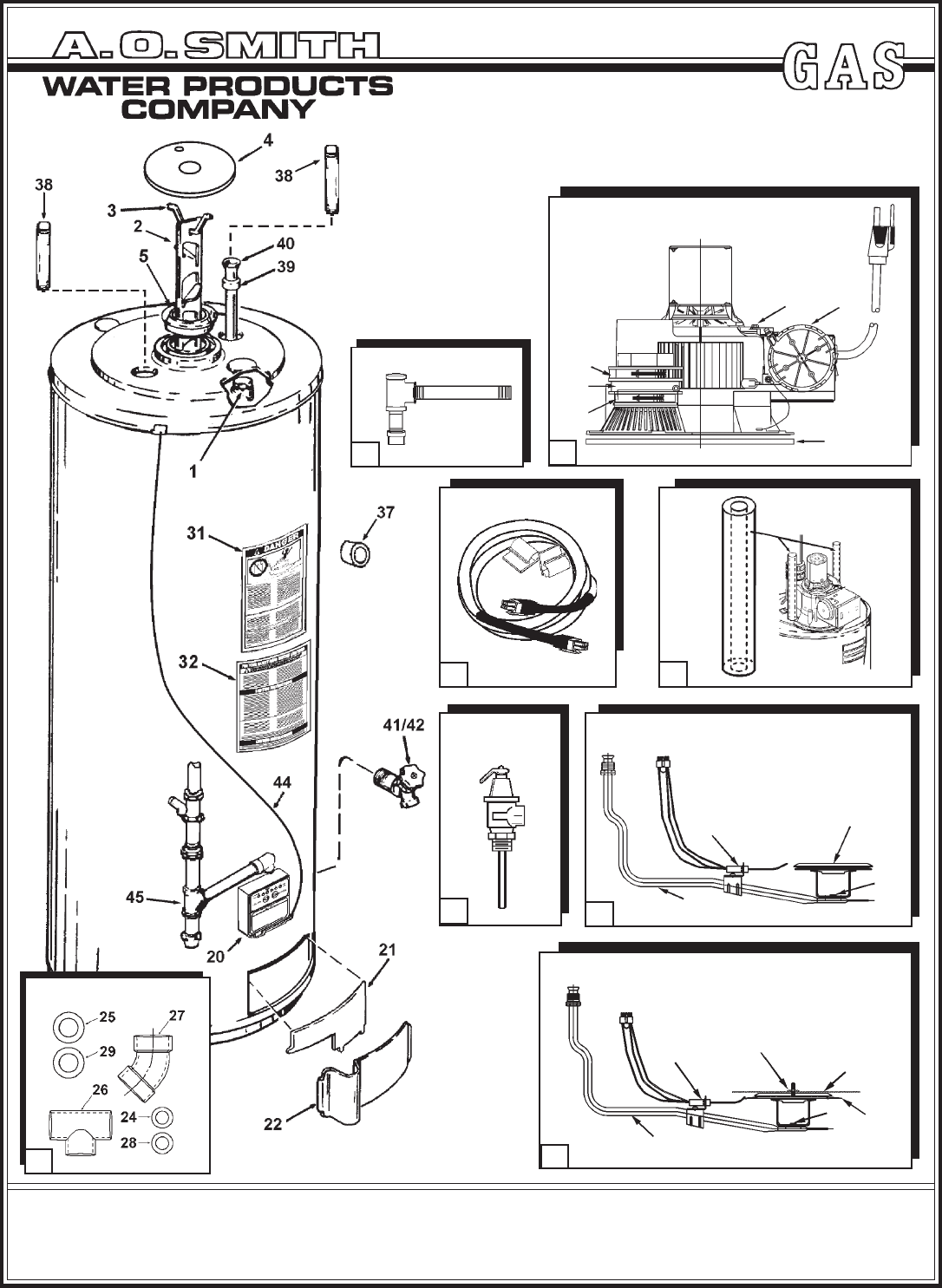 A O Smith Water Heater 100 Series User Guide