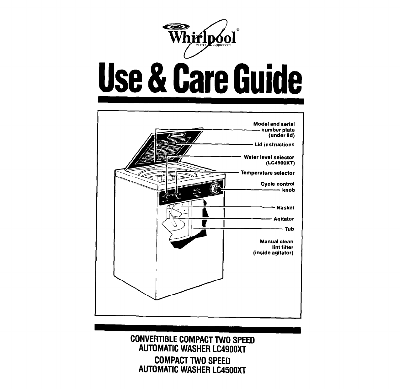 Whirlpool Washer Lc Xt User Guide