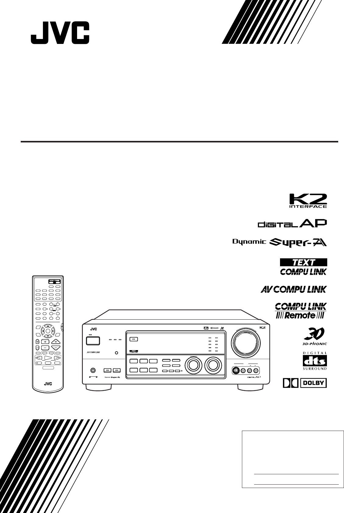Jvc Stereo System Rx 888vbk User Guide