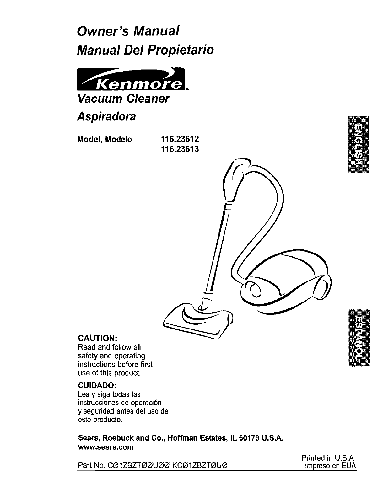 Kenmore Vacuum Cleaner User Guide