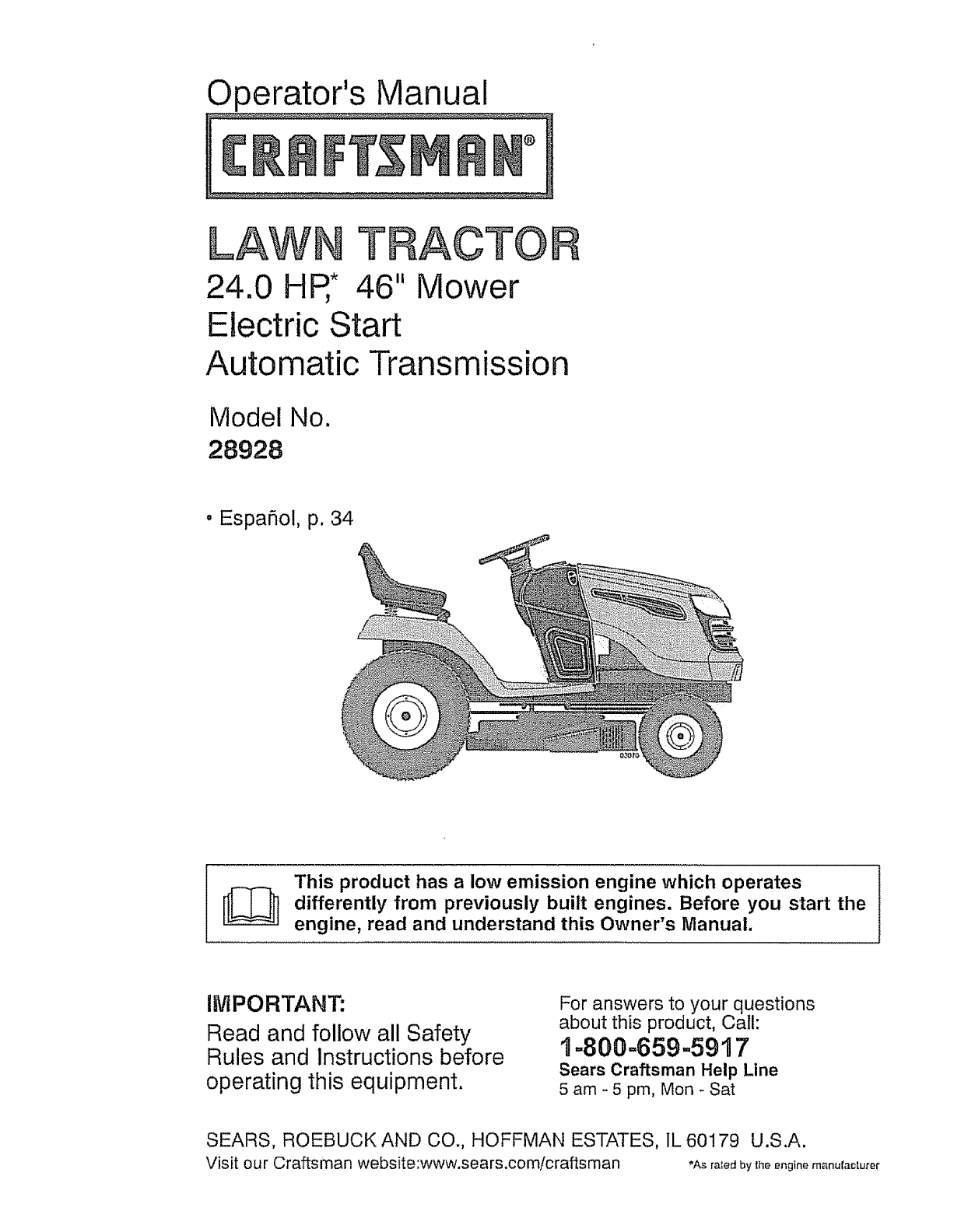 Sears Craftsman Electric Snowblower Manuals
