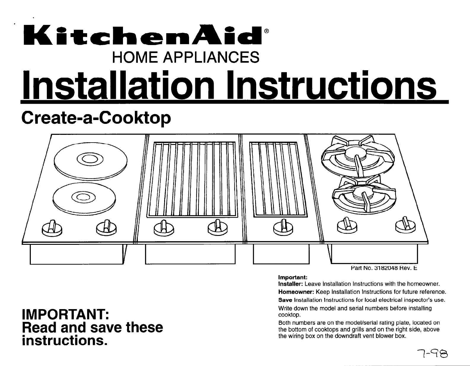 Kitchenaid Cooktop User Guide