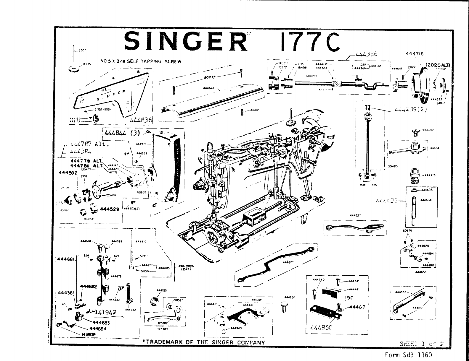 Page 2 Of Singer Sewing Machine 177c User Guide
