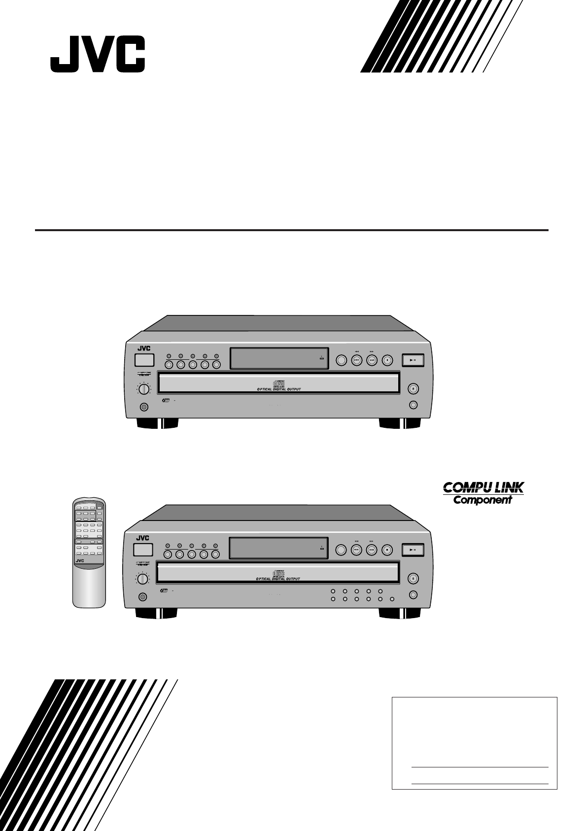 Jvc Cd Player Xl Fz158bk User Guide