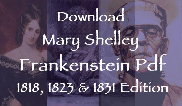 Mary Shelley Frankenstein pdf