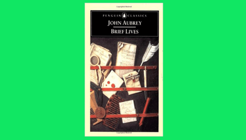 john aubrey brief lives pdf