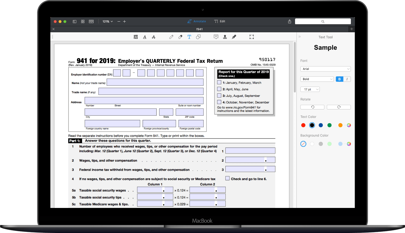 How To Fill Out Irs Form 941