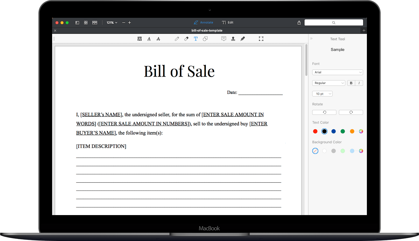Free Bill Of Sale Form Template General Bill Of Sale Forms