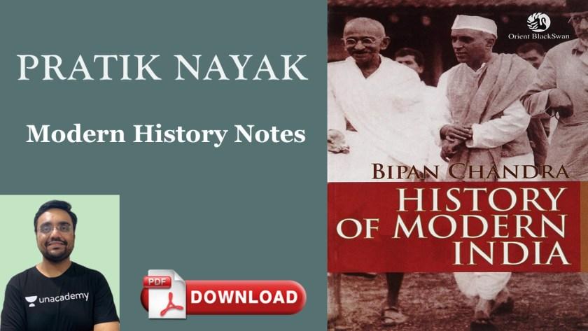 Pratik Nayak Modern History notes