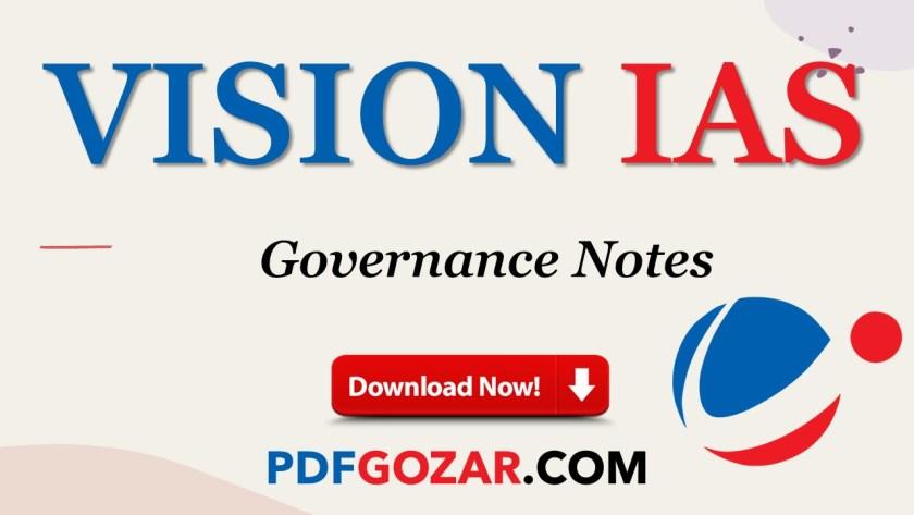 Vision IAS Governance Notes PDF