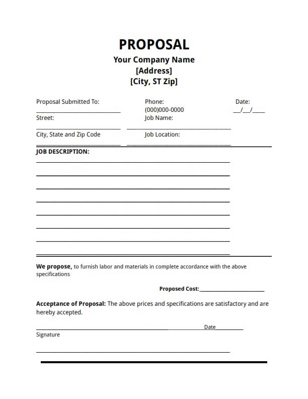 Doc.#674921: Bid Templates – bid template (+78 Similar Docs ...