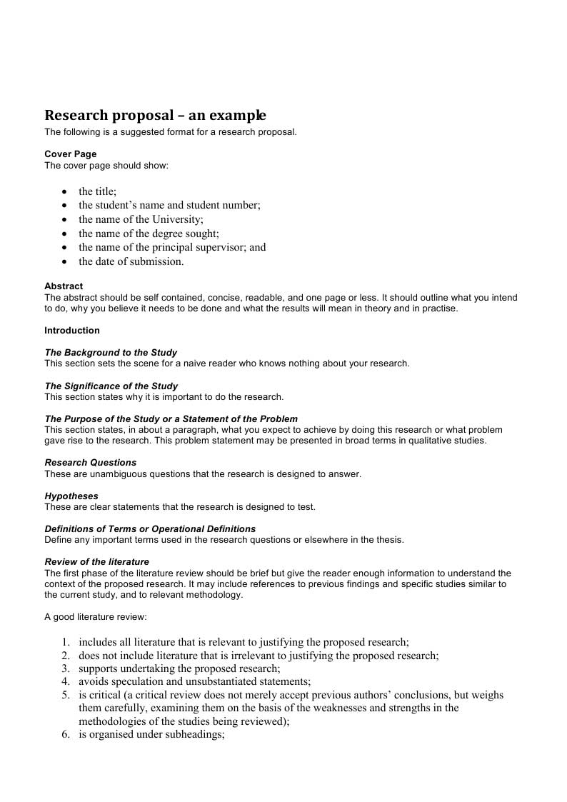 internship proposal example – Proposal Template