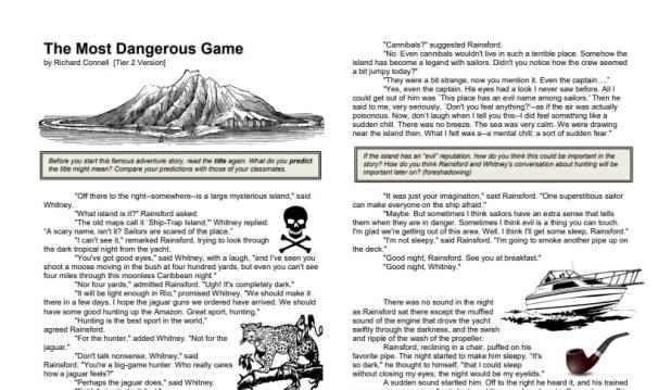 The Most Dangerous Game PDF