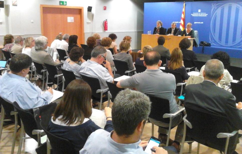 Acte del Ple per a la constitució de la Taula Territorial d'Infància de Barcelona