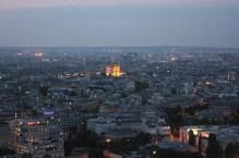 Arc de Triomphe illuminated