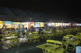 The night bazaar food court in Chiang Rai