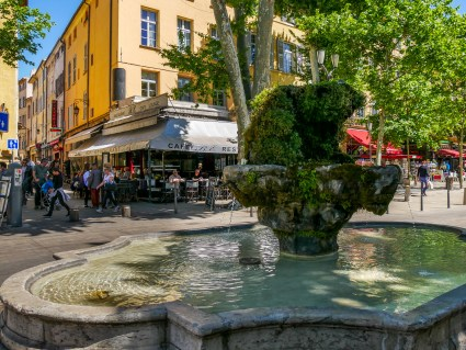 Aix is the city of a thousand fountains, this is one of several along the Cours Mirabeau