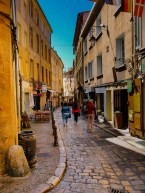Small streets of Aix in the midday