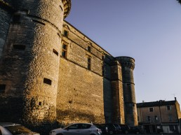 The walls of the castle in Gordes
