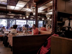 Inside the fish and seafood restaurant in Cannes