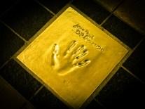 Jaean Paul Belmondo's hand plaque outside the Palais des Festivals