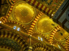 Roof of the Basilica of Notre Dame de la Garde. The three domes testify of Byzantine influence