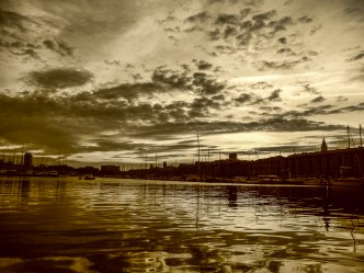 The same sunset picture, processed in Sepia