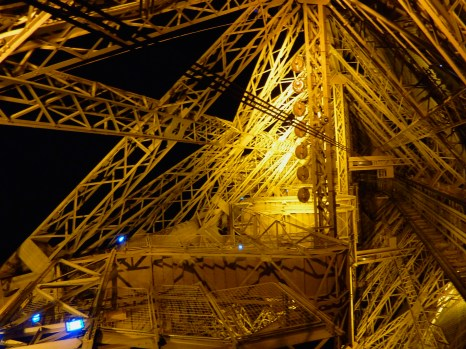 Eiffel Tower internal view at night