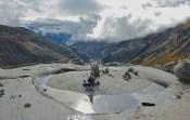 Near the top of Switzerland