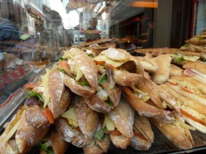 Freshly loaded baguettes