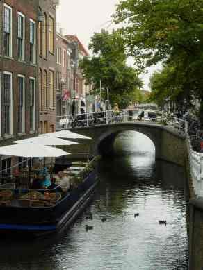 Delft, floating restaurant
