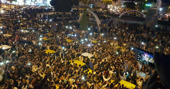 Massive Demonstrations in Eastern Kurdistan in Solidarity with Southern Kurdistan