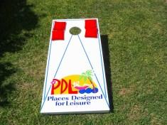 pdl cornhole set conched out