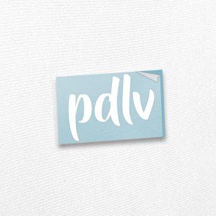 Sticker blanc PDLV STB