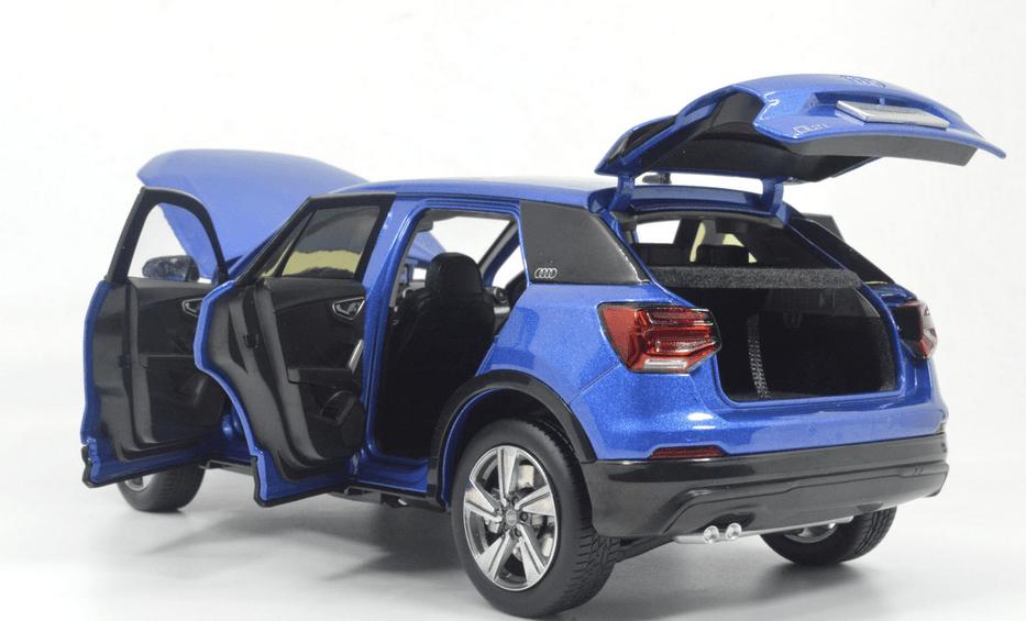Audi Q2L Paudi bleu