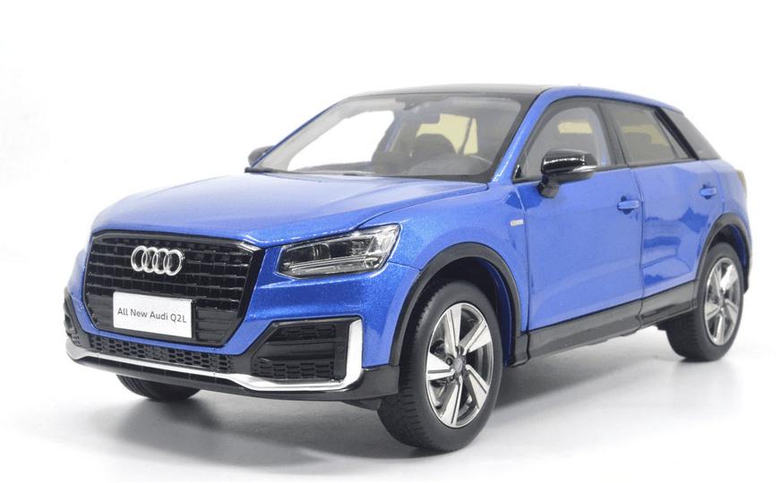 Audi Q2L Paudi bleu 2571BL