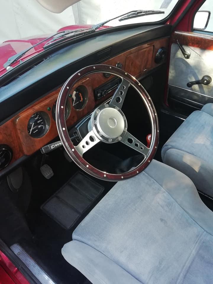 Rover Mini cabriolet Karmann sièges