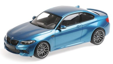 Photo of 1/18 : La BMW M2 Compétition de Minichamps désormais bleue !