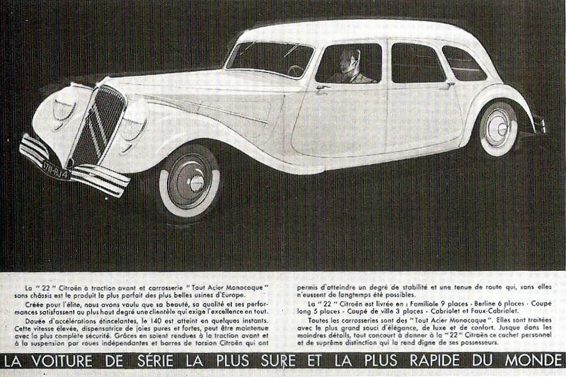 Publicité Citroën Traction 22