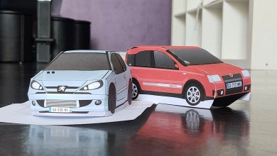 Photo of Papermodels : les voitures de PDLV en maquette papier