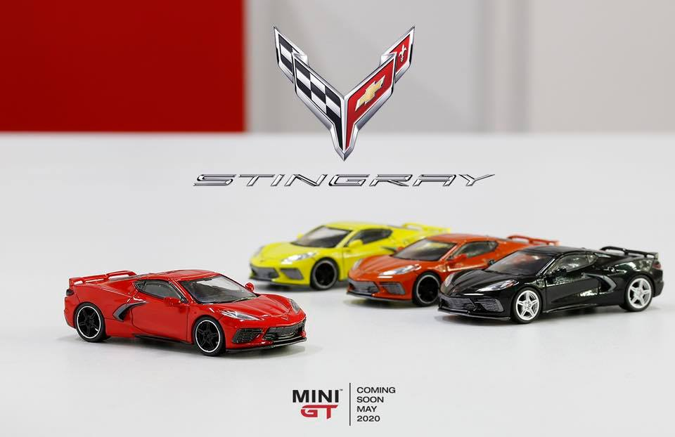 1/64 Corvette C8 Stingray Mini GT