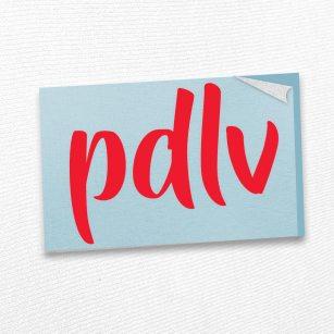 Sticker rouge PDLV STD