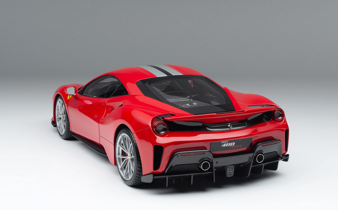 Arrière de Ferrari 488 Pista Amalgam échelle 1/8