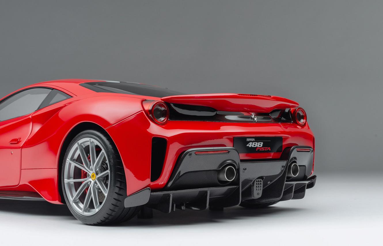 Diffuseur de la Ferrari 488 Pista Amalgam 1/8