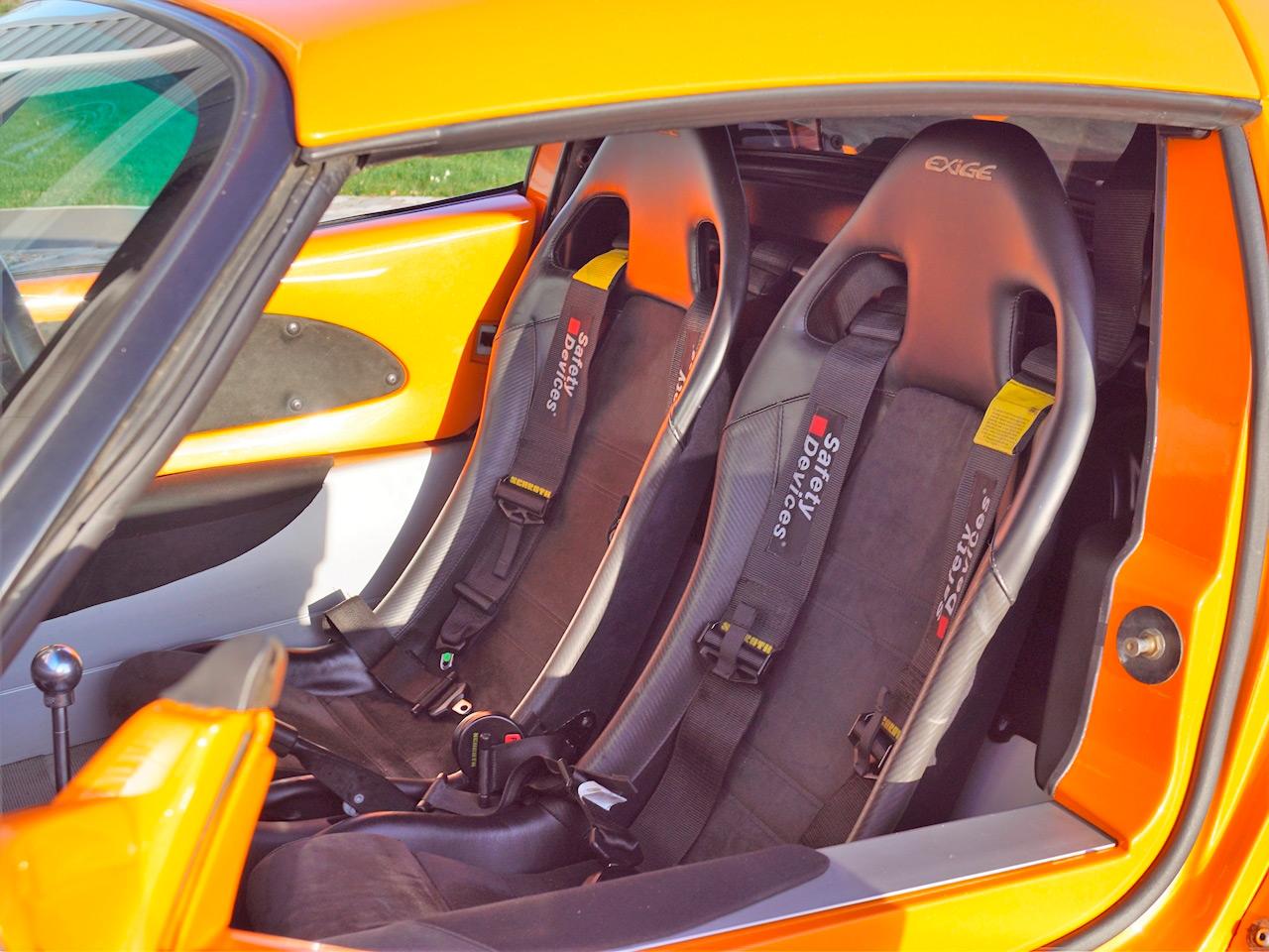 Intérieur de la Lotus Exige S1