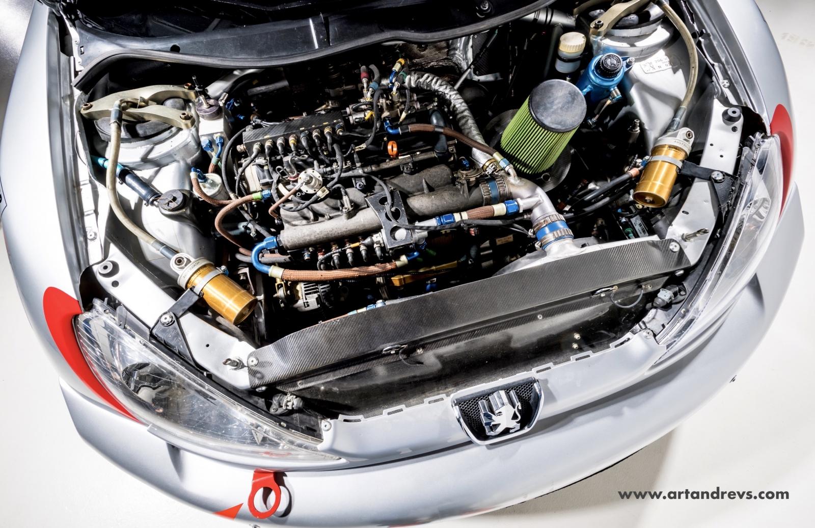 Peugeot 206 WRC moteur