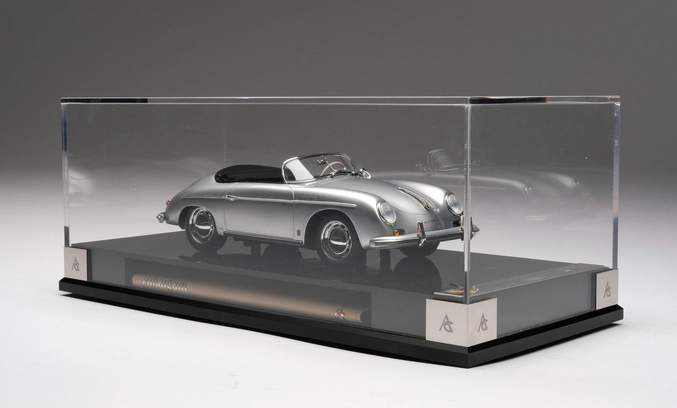 Boite vitrine 1/18 Porsche 356 A Speedster by Amalgam