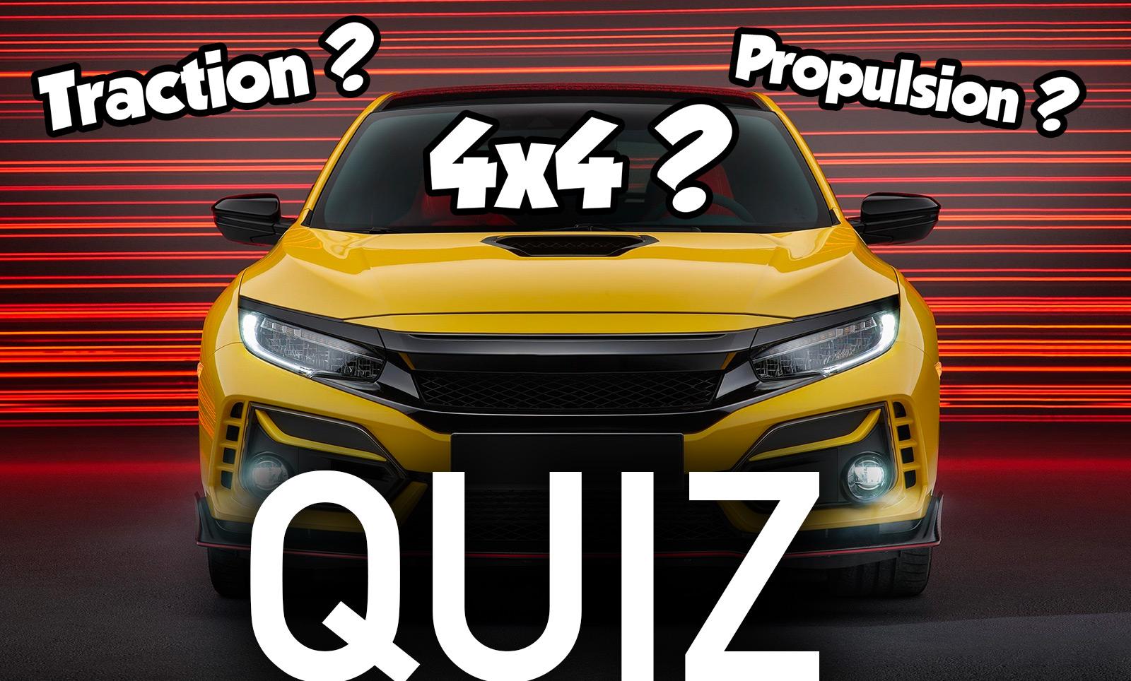 Quiz Traction Propulsion Intégrale